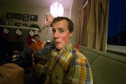 A friend let me borrow his high end wide angle lens at a party