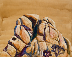 I paint this rock every Christmas. I can't help myself. It begs to be painted. 16 x 20 oil on board