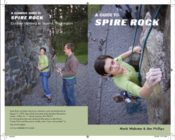 Vladi modeled for the cover of the second edition of my book on Spire Rock. It is in Spanaway, Washington. 