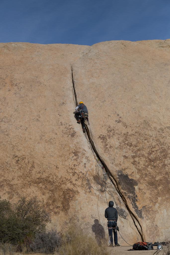 Me climbing F8, Joshua Tree