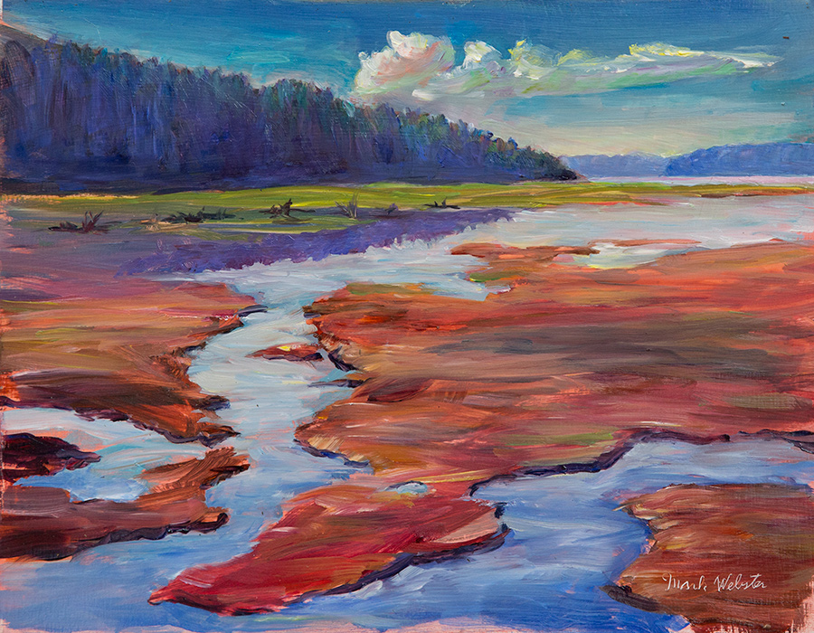 Nisqually Delta, 9 x 12 oil on board