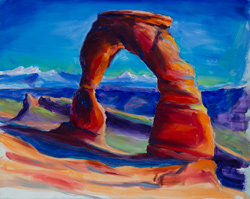 I painted this plein air at Delicate Arch, Moab, Utah. This one took 90 minutes. 16x20 oil on board.