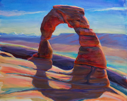 I painted this plein air at Delicate Arch, Moab, Utah. This one took 4 hours. 16x20 oil on board.