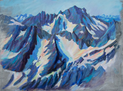 Sahale Arm, North Cascades, painted this plein air and then finished in my studio. 12 x 16 oil on board