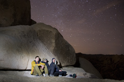 30 second time exposure, New Years eve, top of Chasm of Doom, Joshua Tree