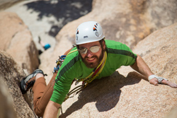 Aaron following a delicate 5.8 stem box in Joshua Tree. It's called Hands Off and involves big fists and tricky stemming