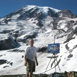 Me painting at Rainier