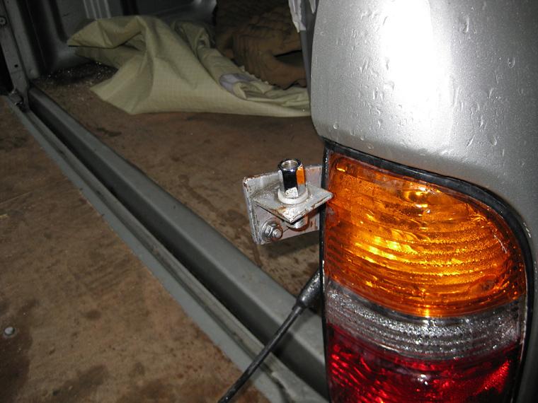 DIY ham radio antenna mount for Toyota Tacoma - Webster ArtWebster Art