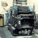 George and his GTOZ at J&D Printing in Tacoma. George was one of the best pressmen I ever worked with.