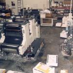 J&D pressroom. Komori 28 and GTOZ