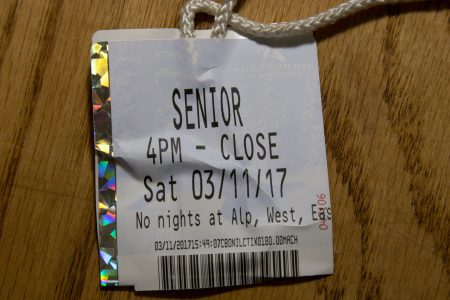 senior ticket to snoqualmie in the rain