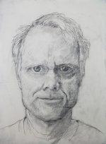 Self portrait senior citizen pencil