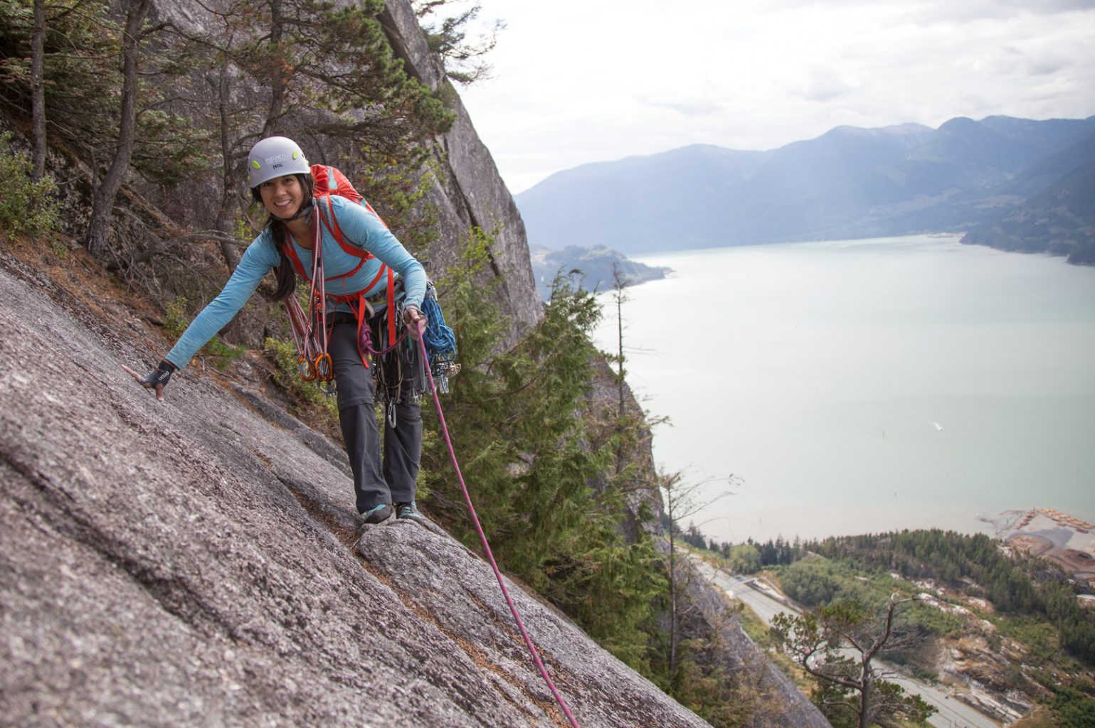 Jaclyn pitch 6. Pitch 1 of Squamish Buttress