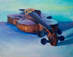 Violin painting. Kristi let me keep it for another painting.